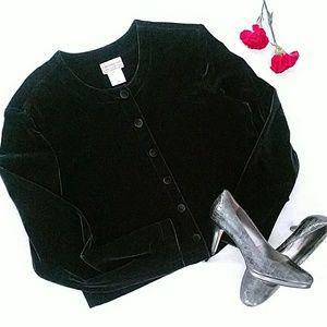 Coldwater Creek Women's velour jacket